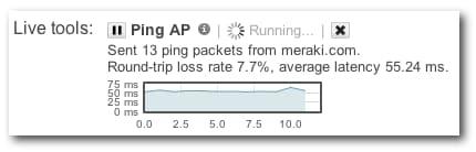 Live ping AP tool