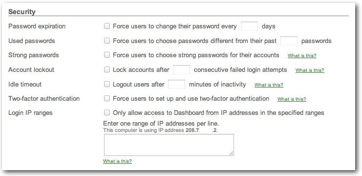 Account security tools