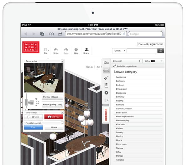 Design Within Reach MyDeco application