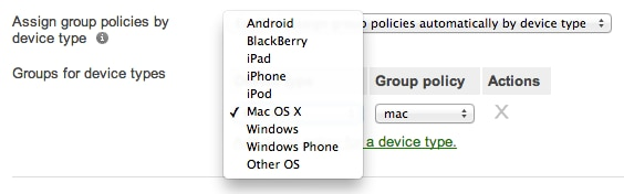 device based policy