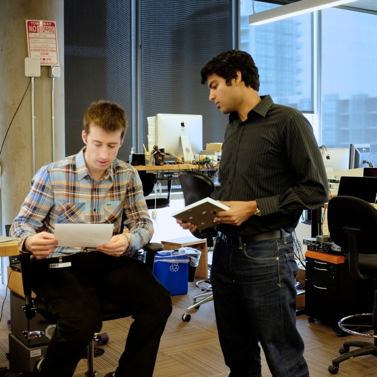 Raj meets with wireless engineering