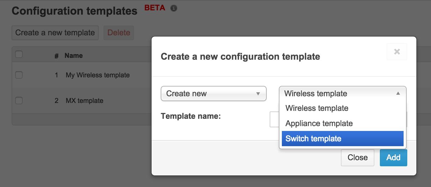 Introducing Switch Templates - Cisco Meraki Blog Cisco