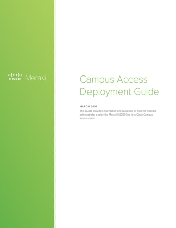 Campus Access Deployment Guide