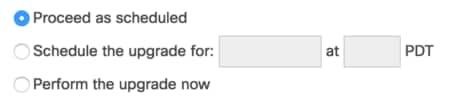 Firmware upgrade options