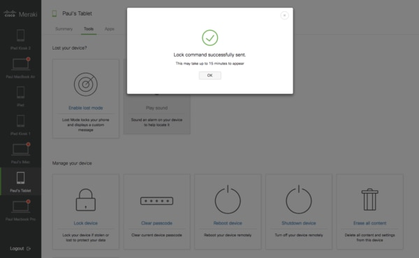 Self Service Portal Lock