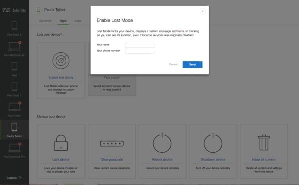 Self Service Portal Lost Mode