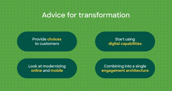 infographic: advice for transformation