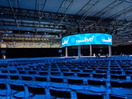 Cisco live main stage and audience seating