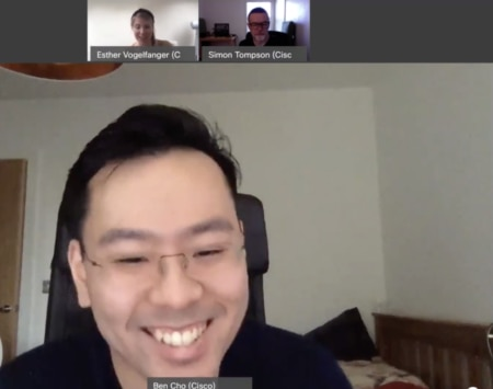Screenshot of remote meeting