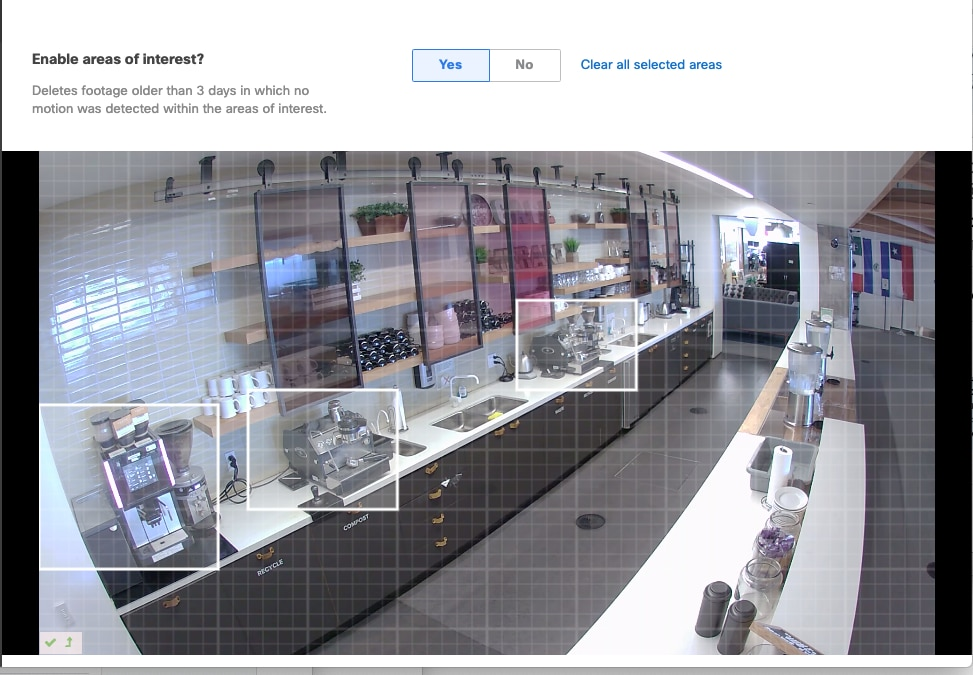 Screenshot of security camera footage, enable area of interest