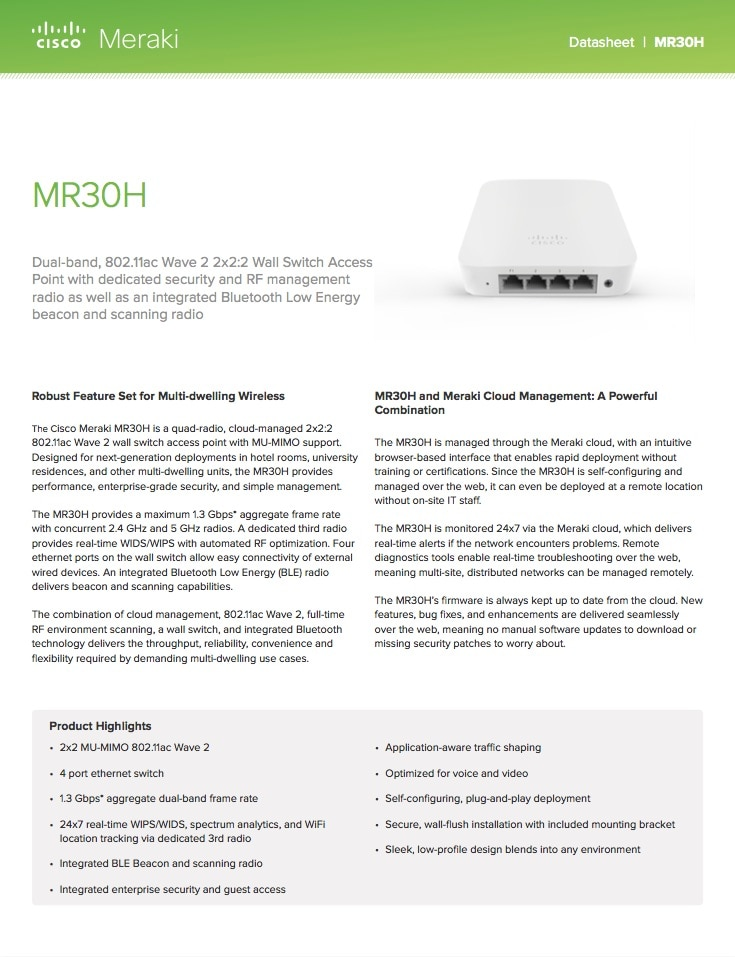MR30H Datasheet