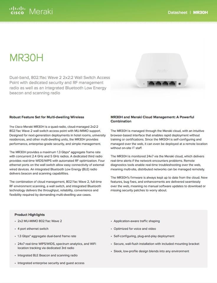 MR30H Datasheet