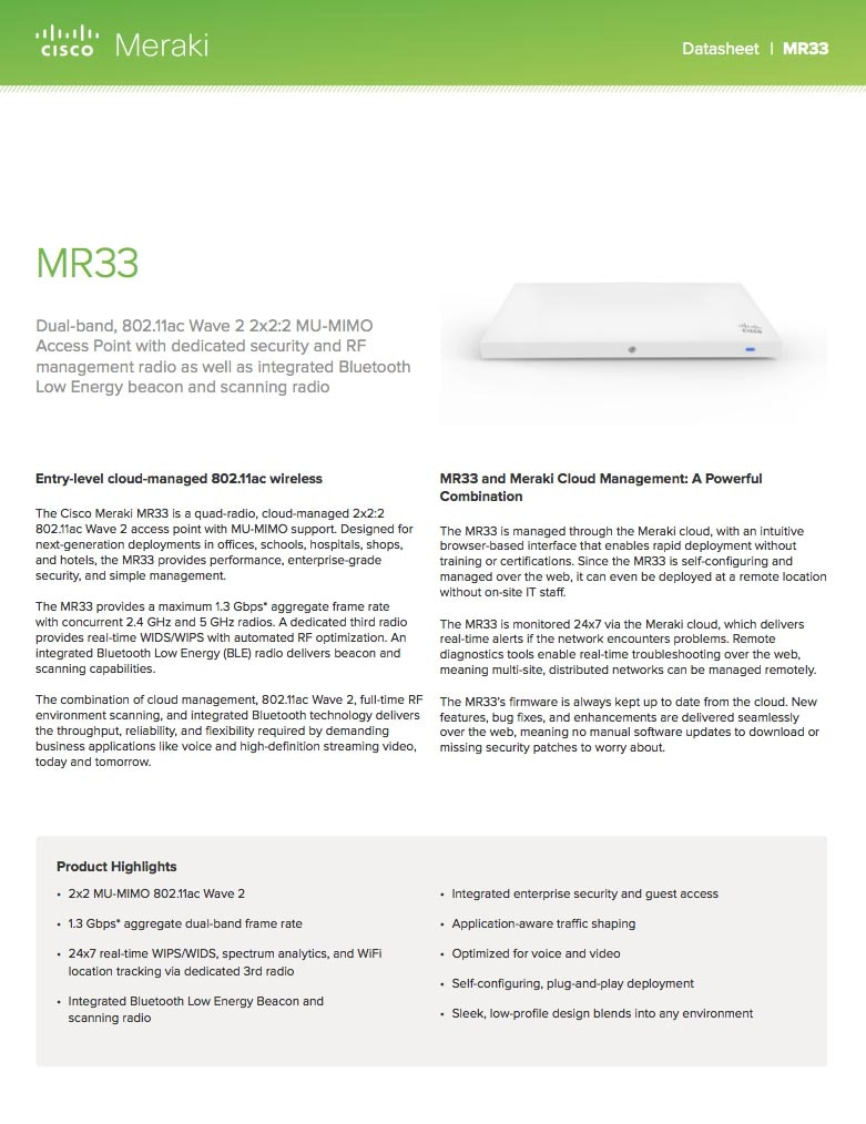 MR33 Datasheet