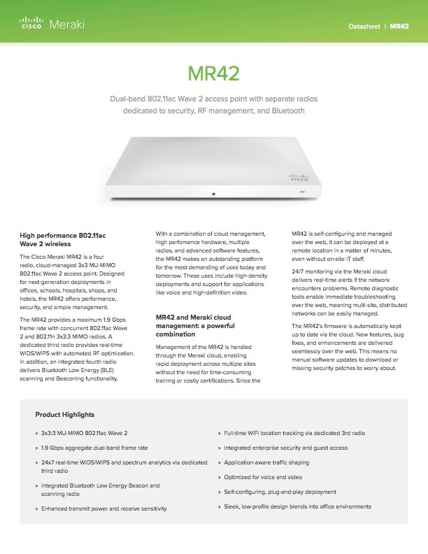 MR42 Datasheet