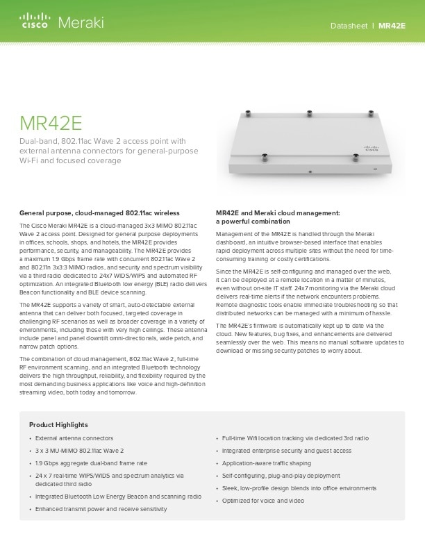 MR42E Datasheet
