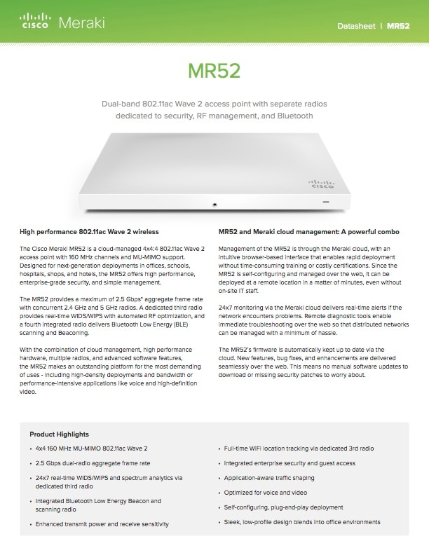 MR52 Datasheet