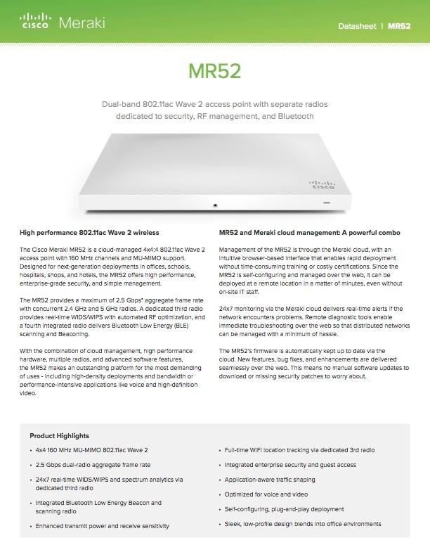 MR52 Datasheet