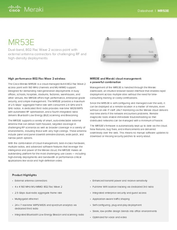 MR53E Datasheet