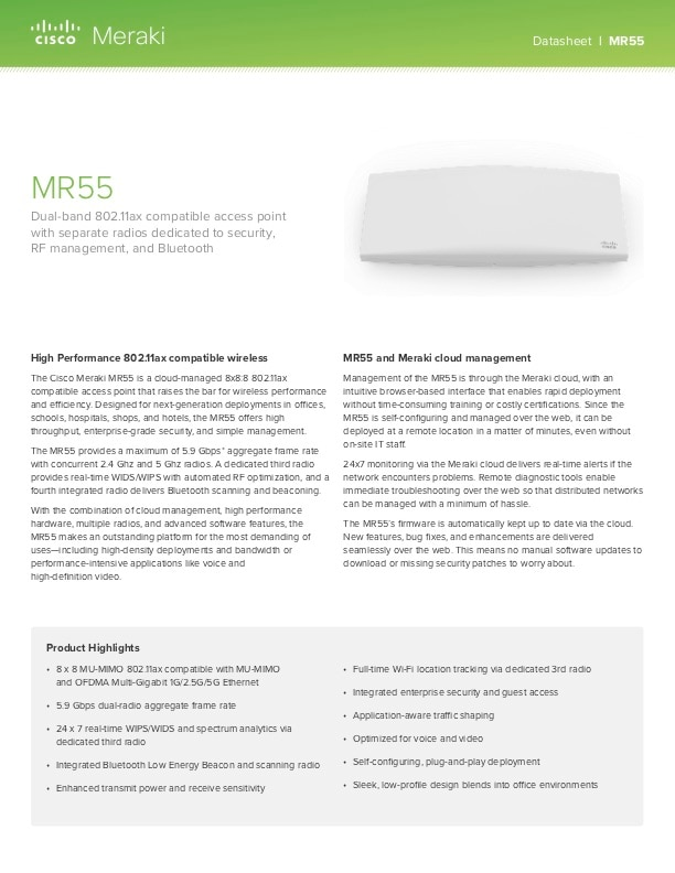 MR55 Datasheet