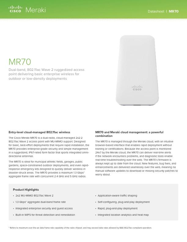 MR70 Datasheet