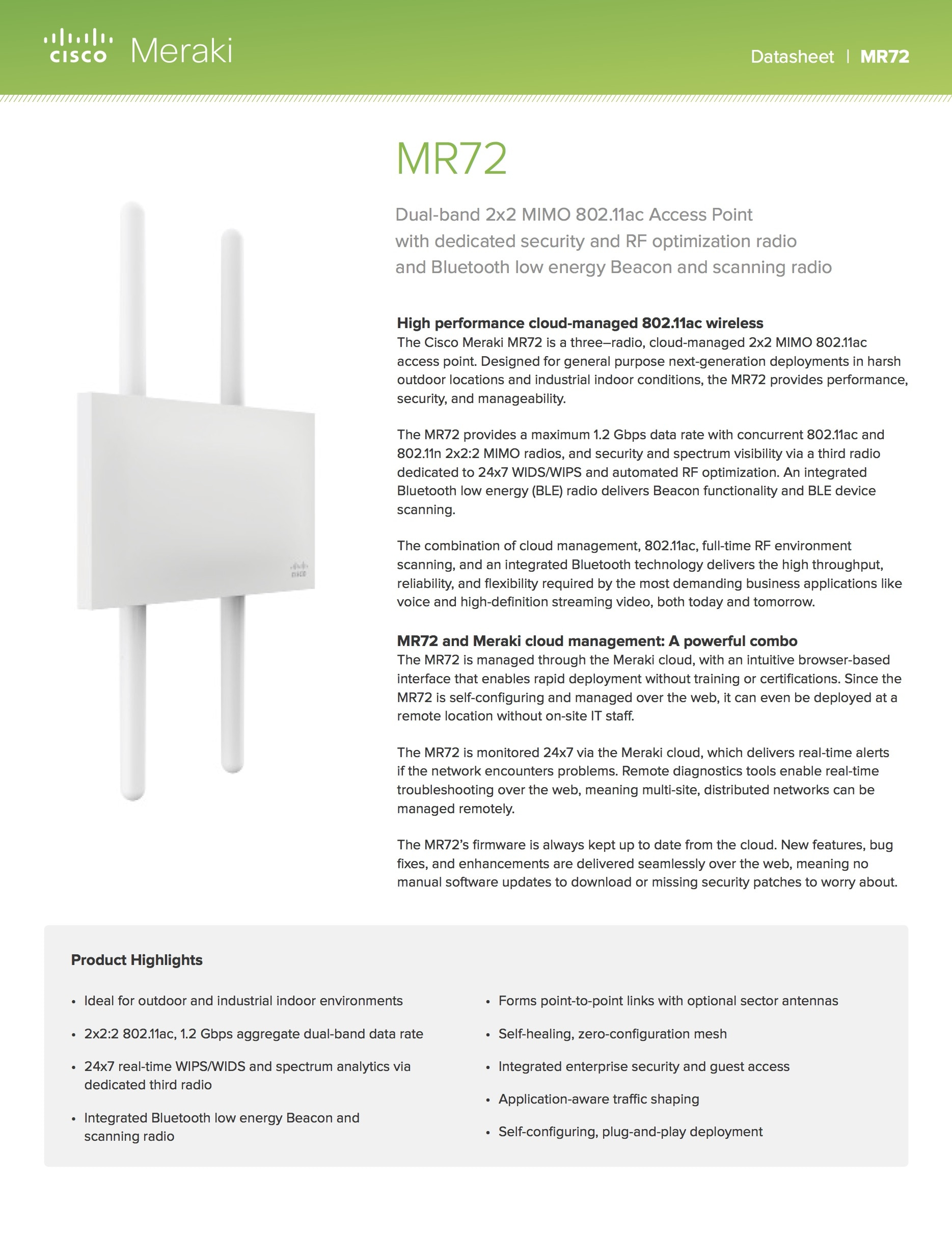 MR72 Datasheet