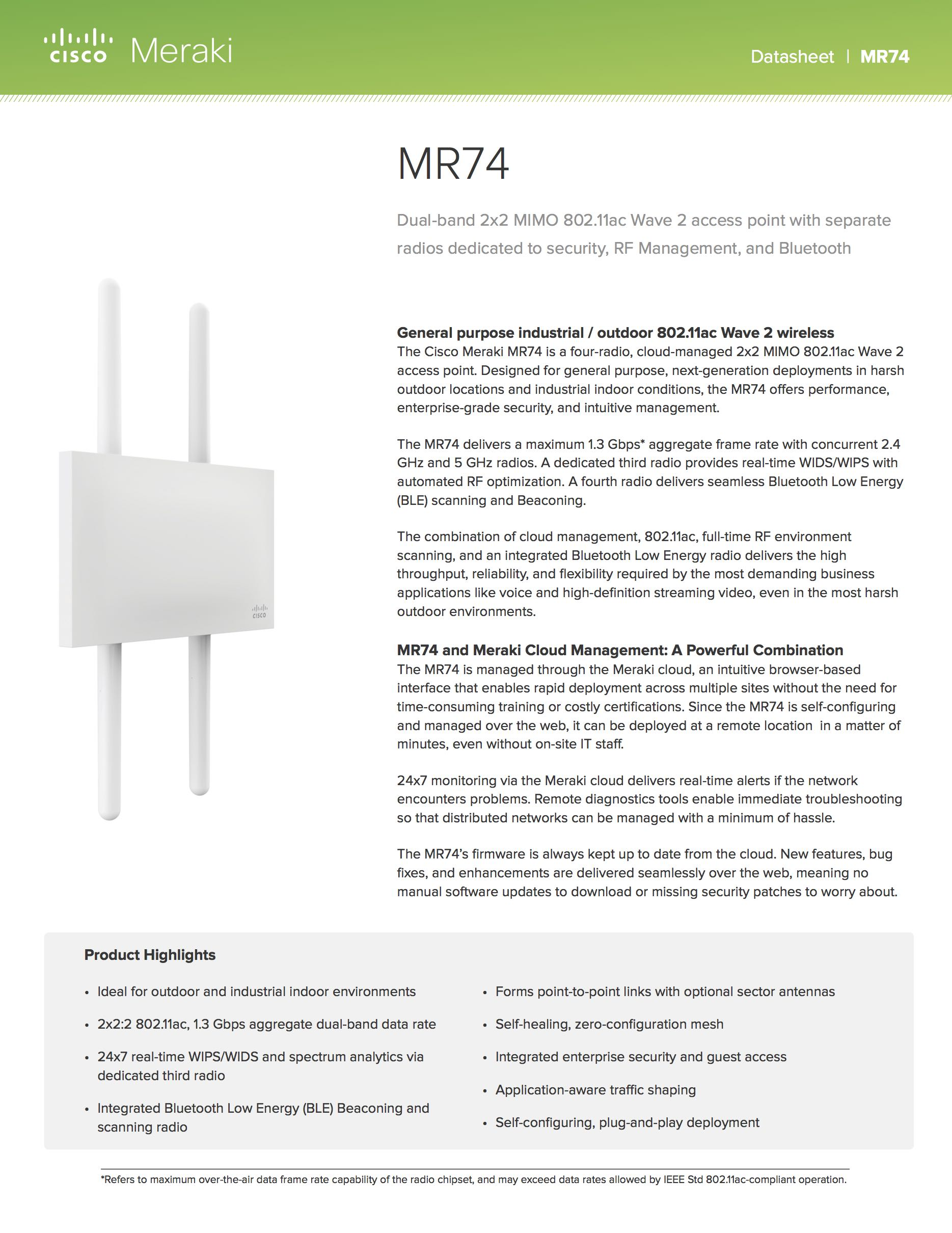 MR74 Datasheet