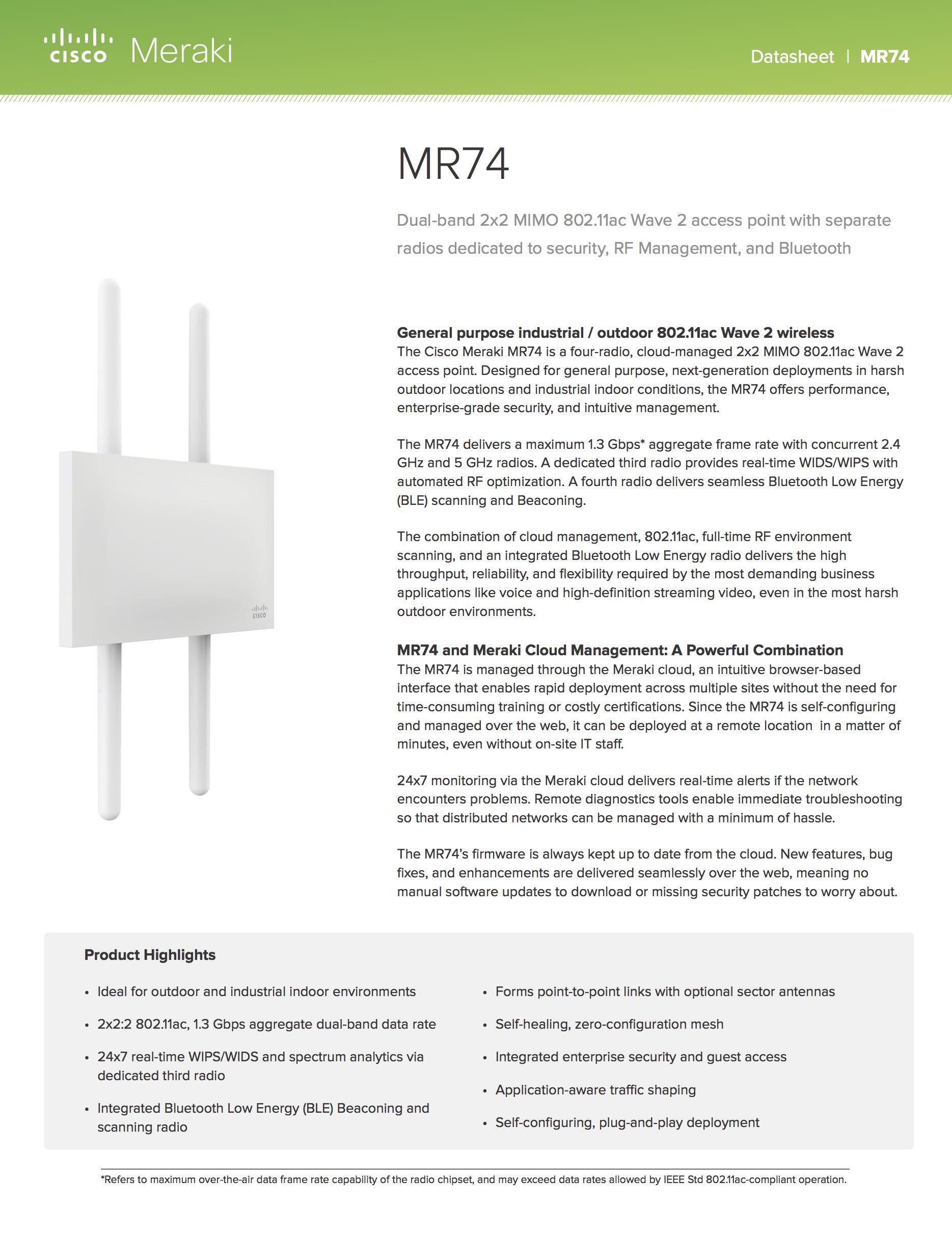 MR74 Datasheet