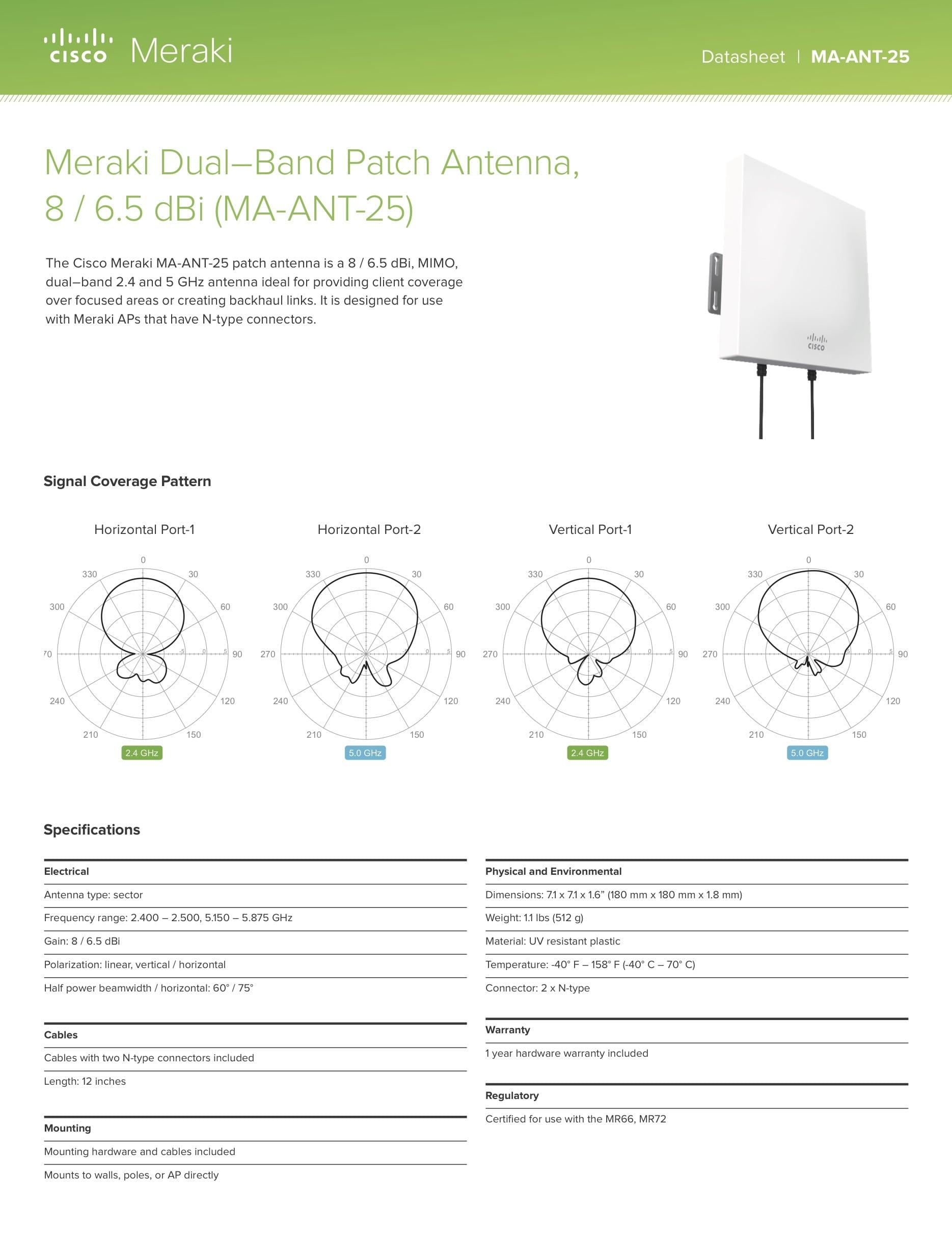 Dual-Band Patch Antenna Datasheet
