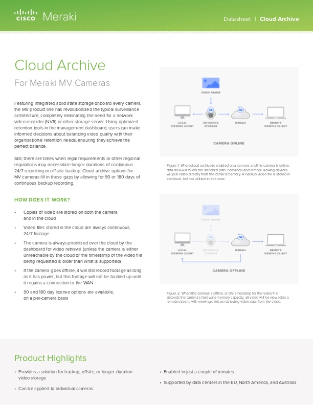 Cloud Archive Datasheet