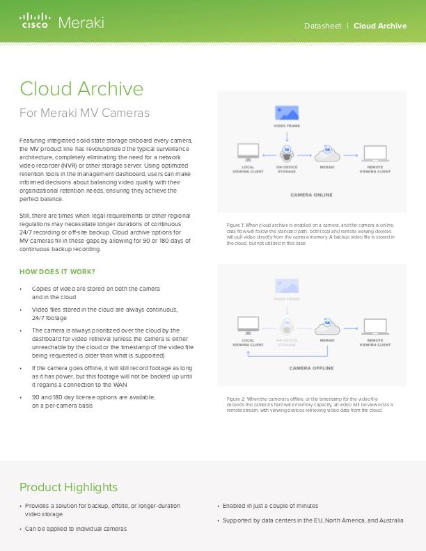 Cloud Archive Datasheet