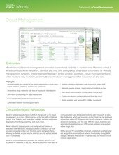 Cloud Management Datasheet
