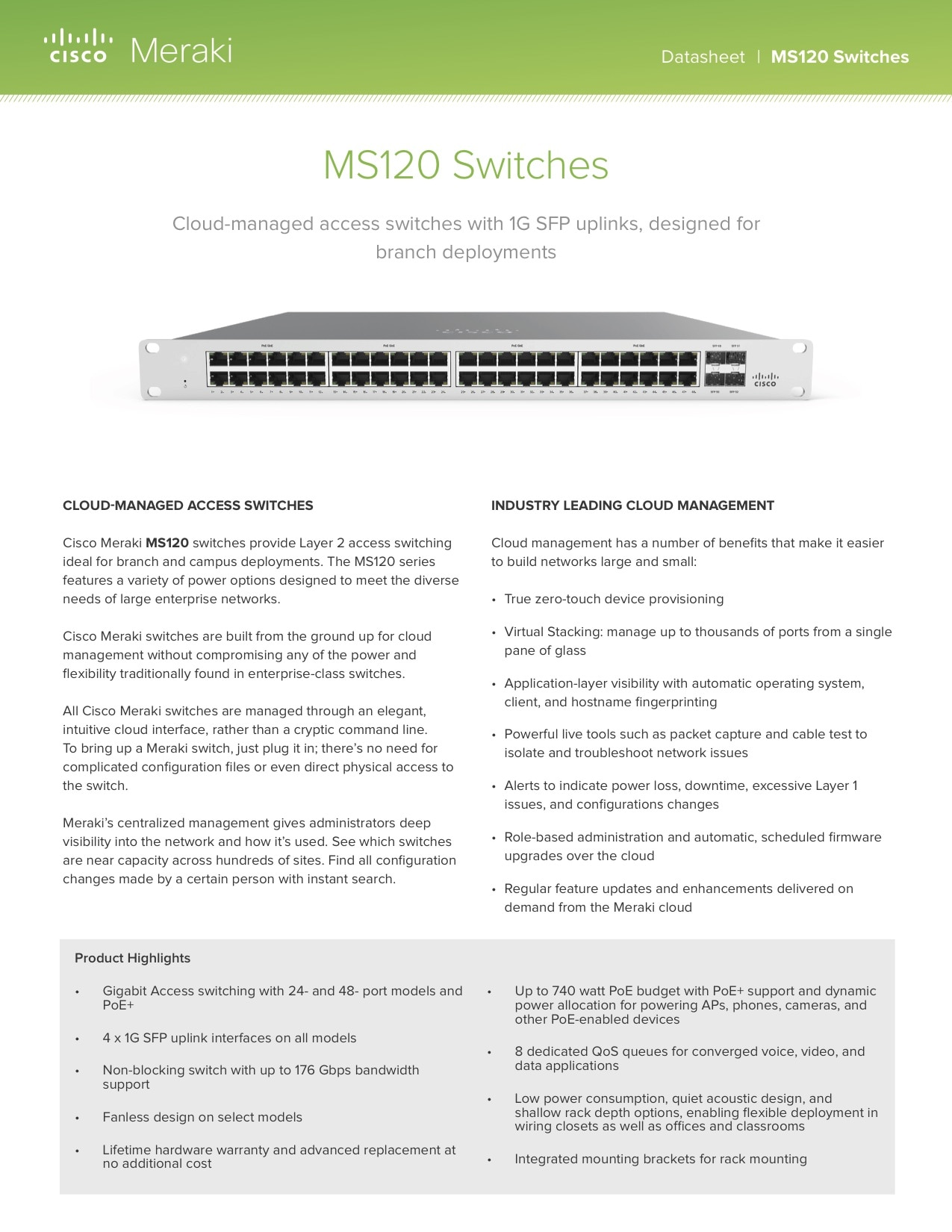 MS120 Series Datasheet