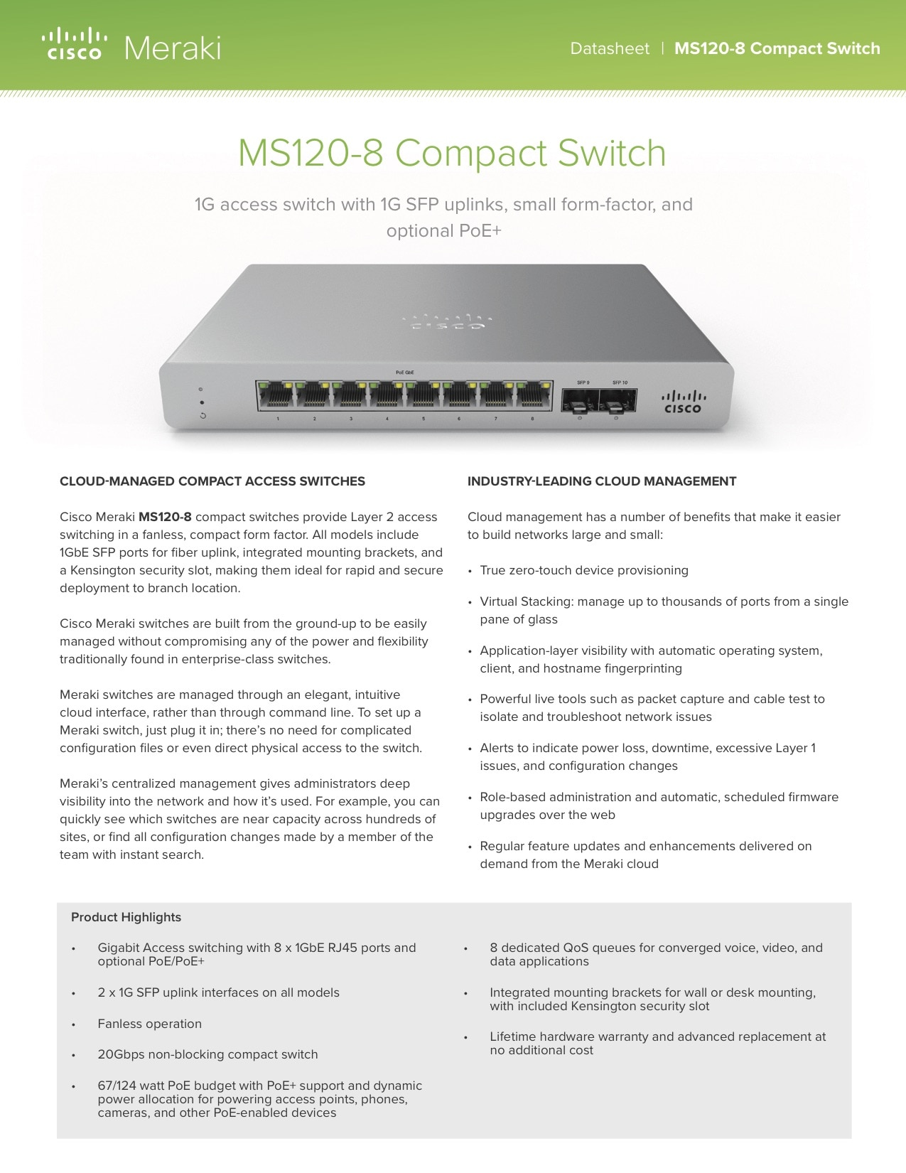 MS120 Compact Series Datasheet