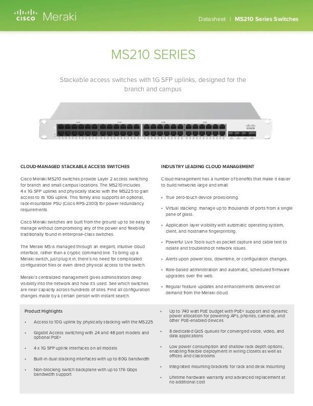 MS210 Series Datasheet