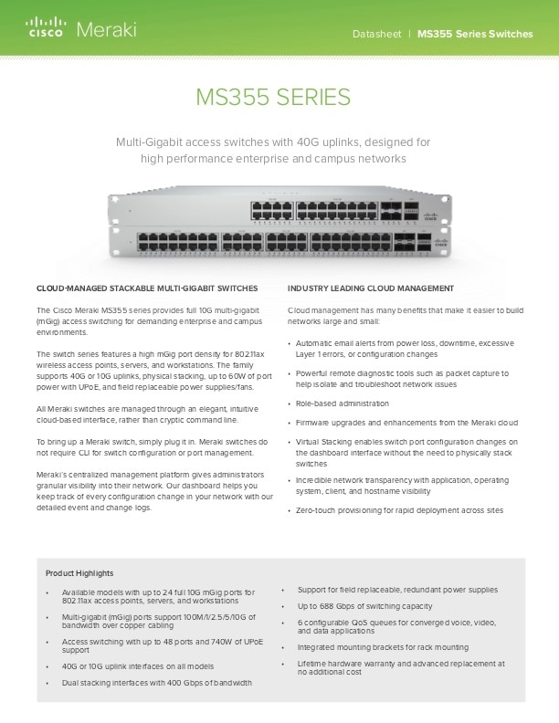 MS355 Series Datasheet