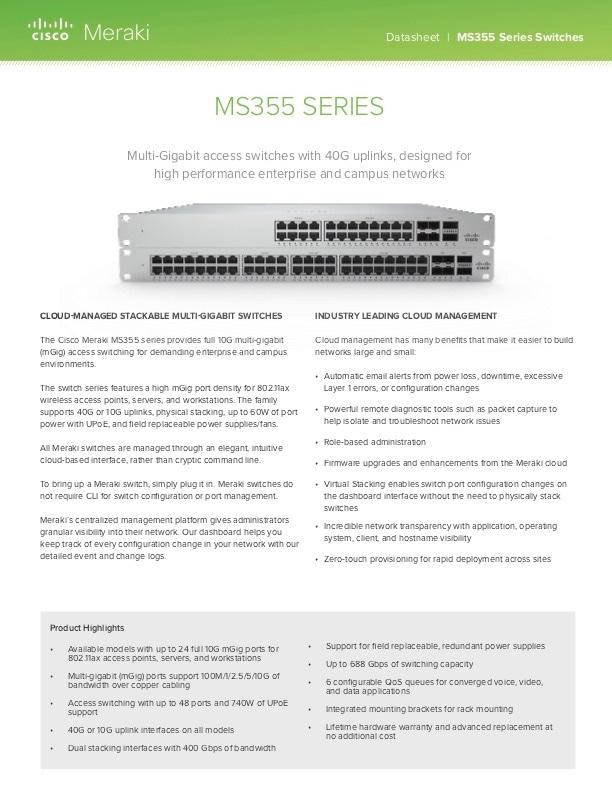 MS355 Series Datasheet