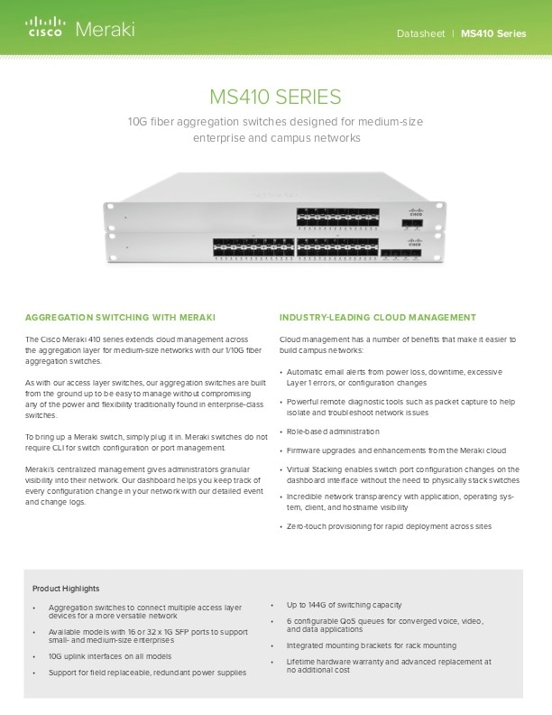 MS410 Series Datasheet