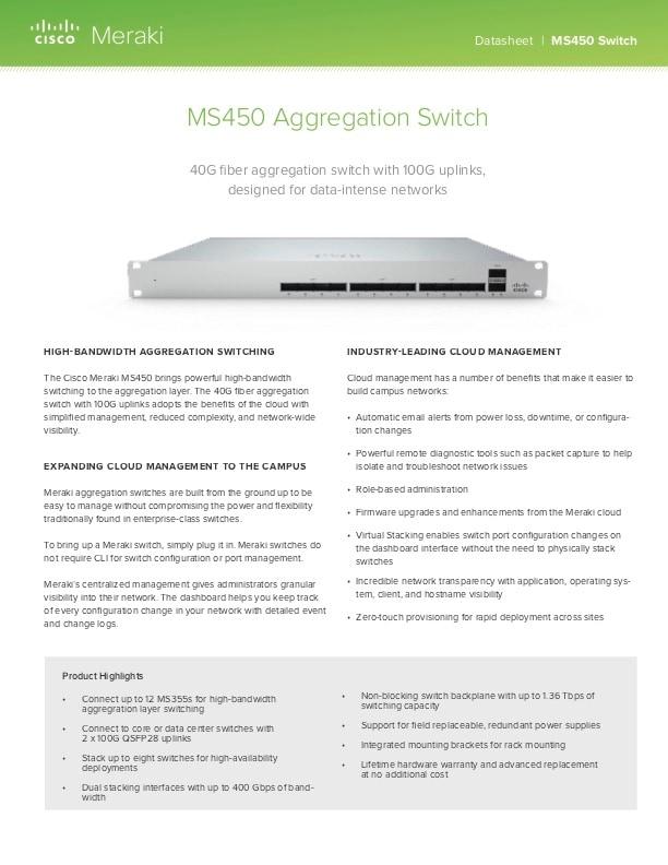 MS450 Datasheet