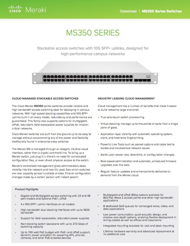 MS350 Series Datasheet