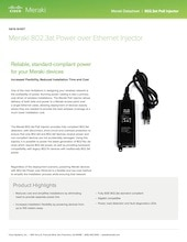 802.3at PoE Injector Datasheet