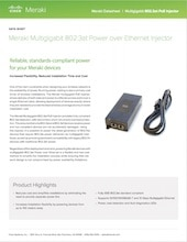 Multigigabit 802.3at PoE Injector Datasheet