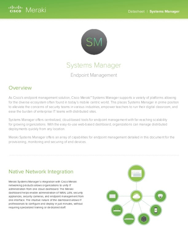 Systems Manager Datasheet