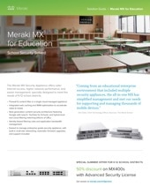 Meraki MX for Education