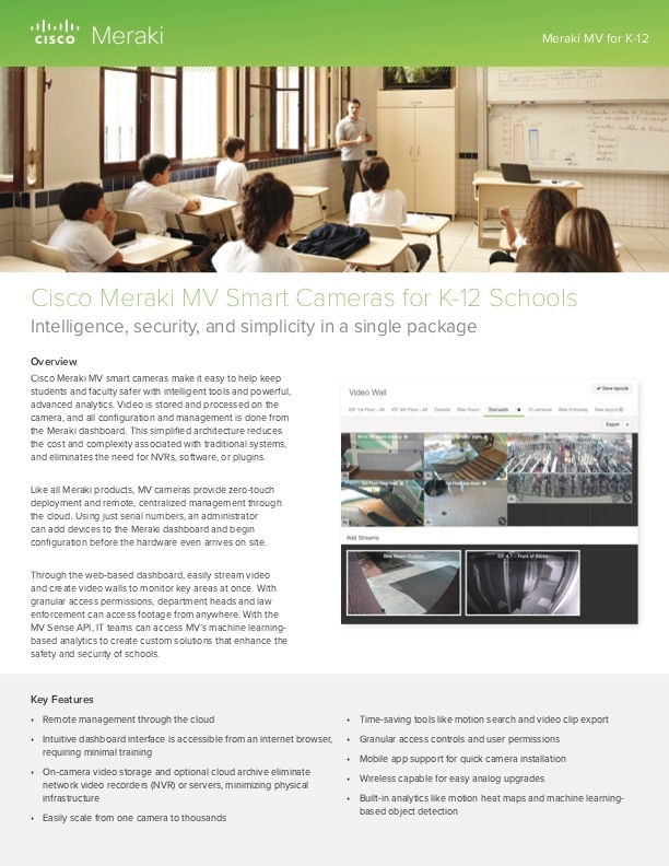 Meraki MV for K-12 Solution Guide
