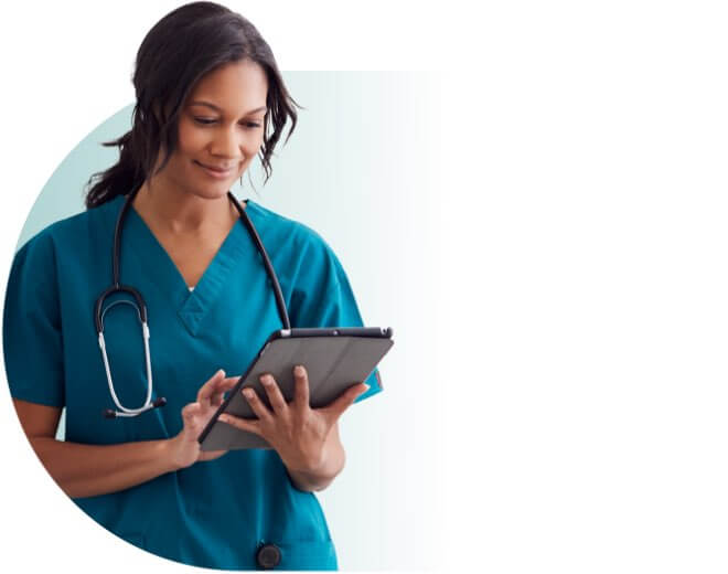 nurse w/tablet